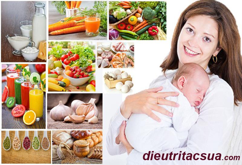 Chế độ dinh dưỡng của mẹ khi cho con bú