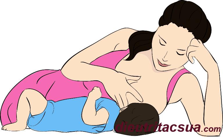Chú ý đến tư thế khi cho bé bú