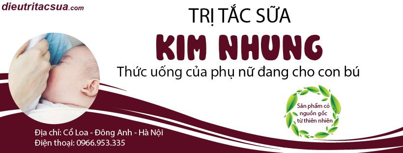 Trị tắc sữa Kim Nhung - AN toàn, hiệu quả