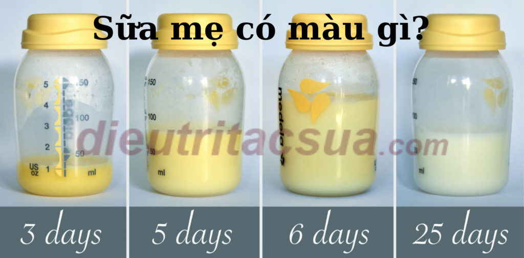 Sữa mẹ có màu gì là chất lượng? Sữa mẹ sẽ có sự thay đổi qua từng giai đoạn